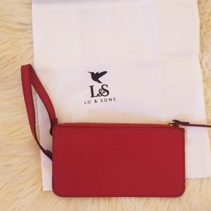 Lo and sons red small clutch